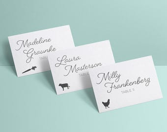 INSTANT DOWNLOAD Meal Choice Icons for RSVP Cards, Place Cards—png, eps, svg—Beef, Vegetarian, Fish, Lobster, Poultry, Lamb, Pork—Printable