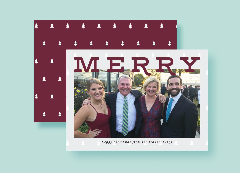 Modern Merry Holiday Photo Cards - Custom Photo Christmas Cards ...