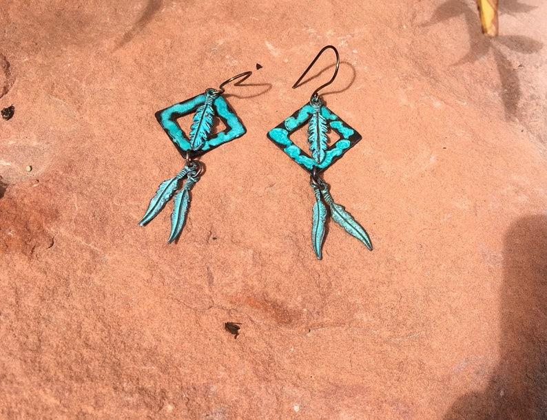 Feathers from Sedona Earrings EA 076
