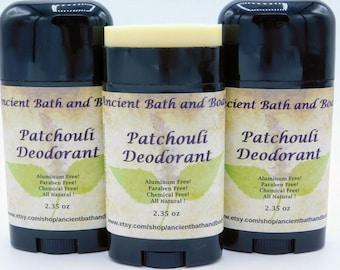 Patchouli Deodorant, Aluminum Free Deodorant, Natural Deodorant, Chemical Free Deodorant, Artisan Deodorant, Vegetarian Deodorant