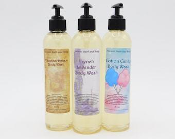 Organic Body Wash, PICK YOUR SCENT, Vegan Body Wash, No Parabens & No Harmful Chemicals