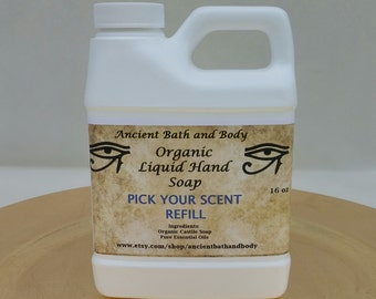 Organic Liquid Hand Soap Refill, Pick Your Scent