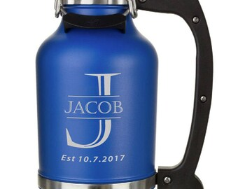 Personalized Beer Growler - Engraved DrinkTanks® 64 oz Insulated Growler - Groomsmen Gift - Craft Beer - Father's Day Gift - Wedding Gift