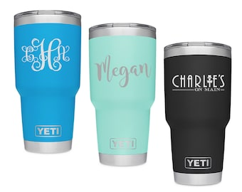Custom Engraved Yeti Rambler - Colors - Yeti 30 oz Rambler Tumbler - Stainless Steel Yeti - Christmas Gift - Mother's Day Father's Day Gift