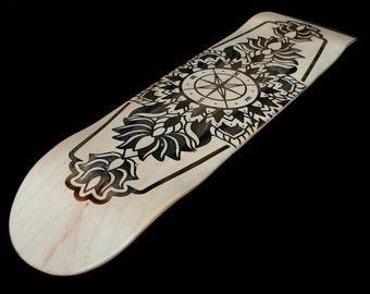 Skateboard Deck - Personalized Skateboard - Laser Engraved Skateboard - Personalized Engraved Skateboard - Skateboard Art