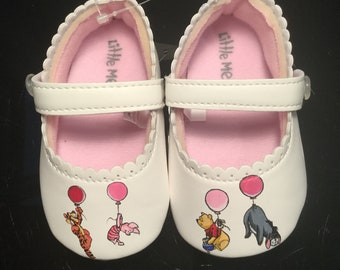 Custom Pooh and Friends Baby Shoes