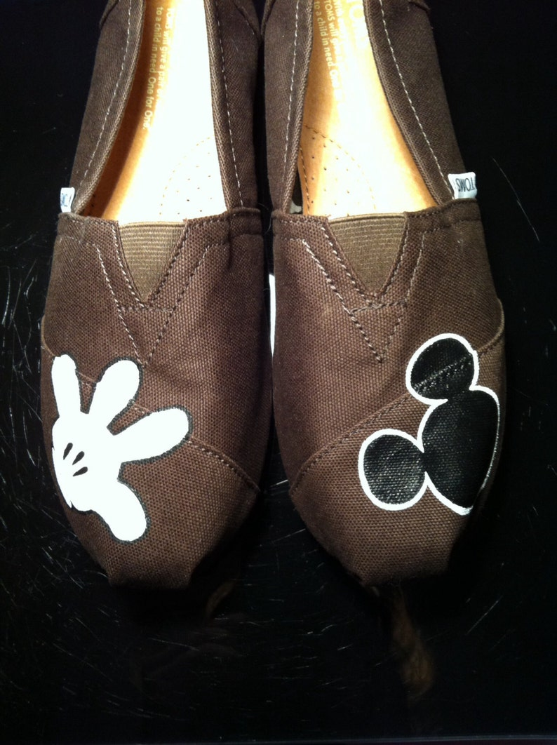 449d4f616b07c Mickey Mouse Inspired Custom Hand Painted Toms