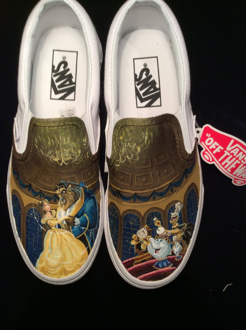 603bed50684c69 Beauty and the Beast Inspired Custom Hand Painted Vans