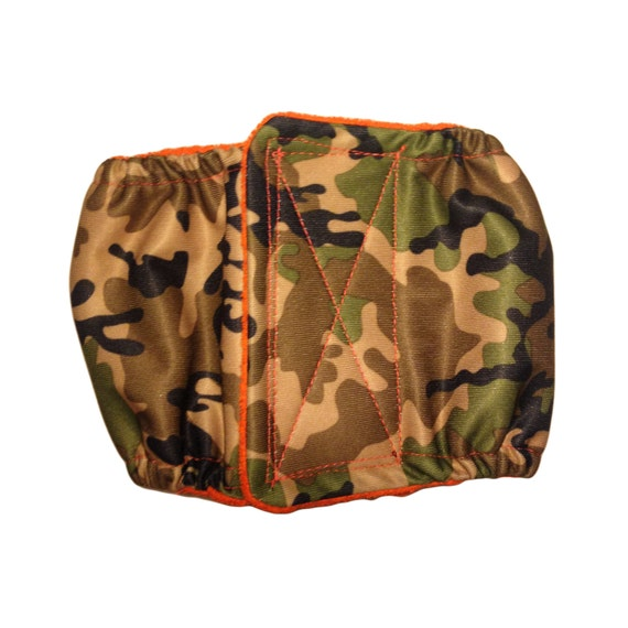 Waterproof Dog Belly Band - Camo Premium Fully Waterproof PUL Washable Male Dog Diaper