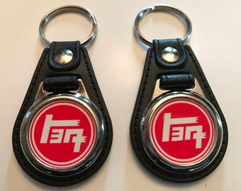TOYOTA RETRO KEYCHAIN set 2 pack red white 391eebb32ccd