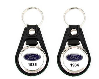 1936 & 1934 custom keychain set 2 pack