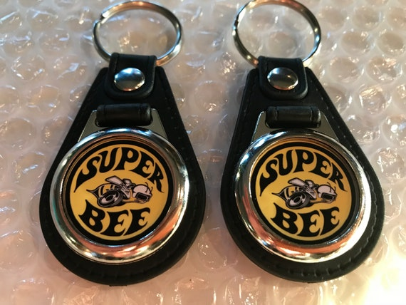 Silver /& Orange Dodge Classic Challenger R//T Key Chain Fob MADE in USA