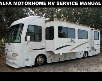 alfa rv motorhome service manual 320pg for 2005 2006 motorcoach operation  maintenance & appliance repair