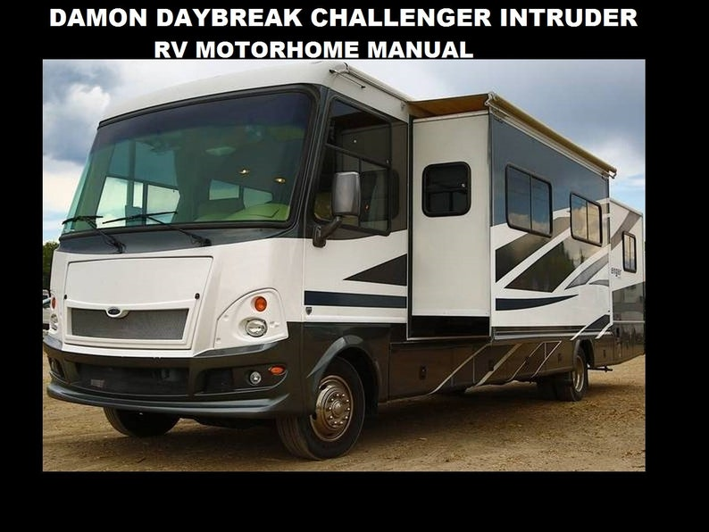 DAMON Daybreak Challenger Intruder Motorhome Manuals 455pg with RV on