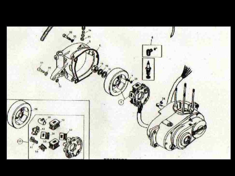 BULTACO Cemoto ALPINA PARTs MANUAL - 100pg for Motorcycle Repair & Service  with Detailed Exploded Diagrams