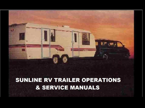 SUNLINE RV TRAILER OPERATIONs MANUALs -430pgs with 5th Wheel Camper on