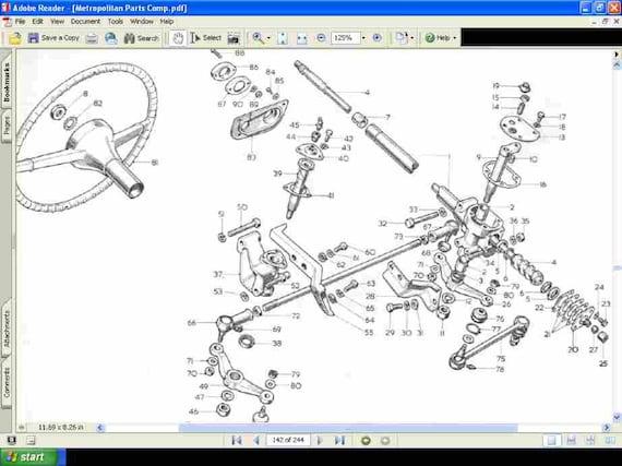 nash metropolitan service parts manual 470pg for metro 1500 etsy rh etsy com