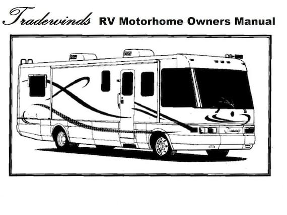 tradewinds motorhome manuals 435pg 1997 1998 1999 2000 2001 rv | etsy  etsy