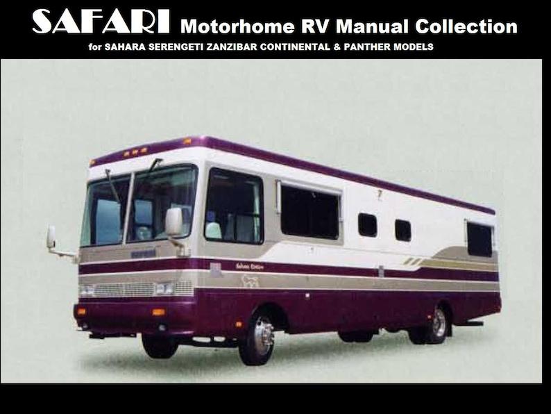 safari motorhome operations manuals 480pg for sahara panther etsy rh etsy com