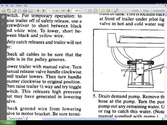 hi lo camper trailer service manuals 380pg for towlite rv rh etsy com 30 Amp RV Wiring Diagram Camper Wiring Diagram 30A