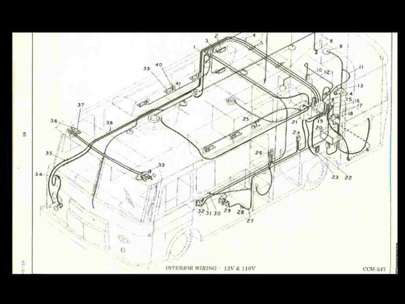 damon daybreak wiring diagram cortez motorhome parts   tech manual 265pg for clark cortez etsy  cortez motorhome parts   tech manual
