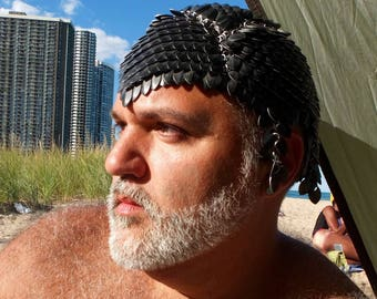 Black Scalemaille Headpiece