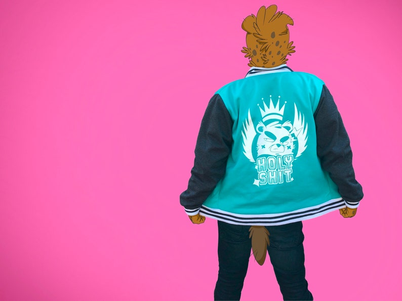 Apparel savage Streetwear Furry Fandom  Japanese Street Anime Manga Clothes by Arty and Chikle Bomber Jacket Holy Sh*t