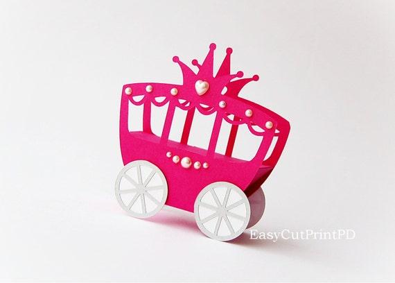 Princess Carriage Box Template Studio V3 DXF SVG Baby