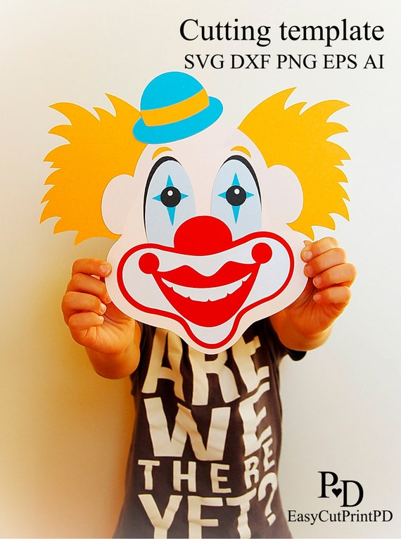 clown circus clipart face template svg eps dxf ai jpg etsy