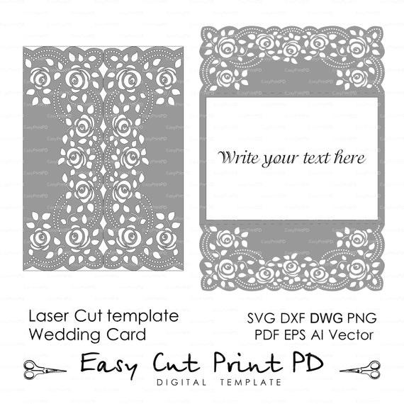 Tapete de crochet de encaje de rosas invitación 5 x 7 | Etsy