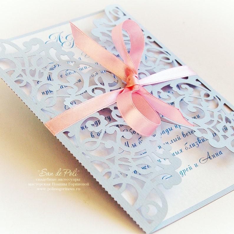 Flourish Wedding invitation Pattern Card 5x7 Template image 0