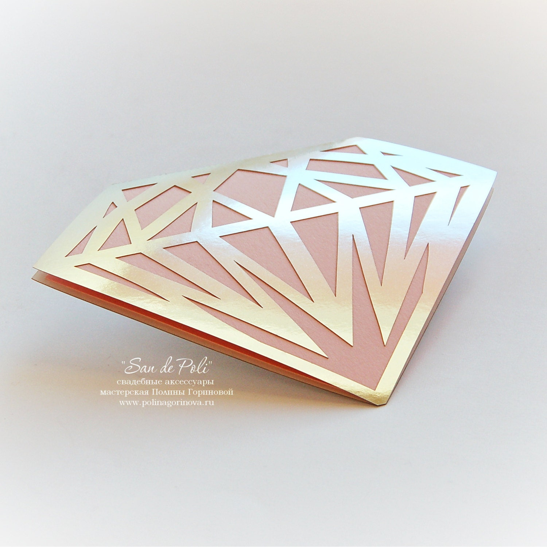 Diamond Card Template Stencil Wedding Invitation Svg Dxf