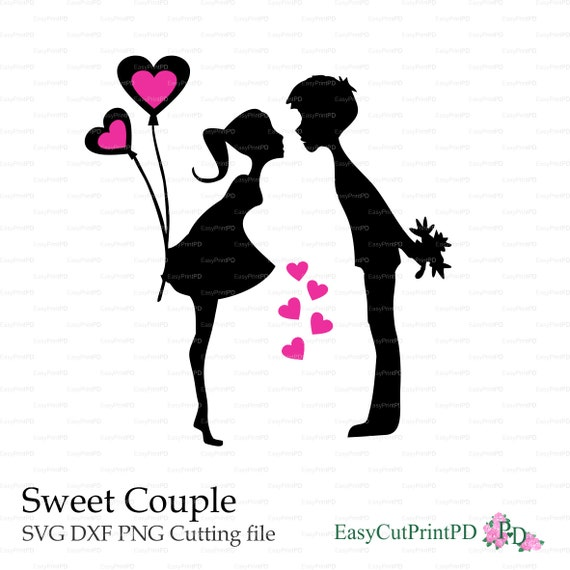 Love Sweet Couple Valentine S Day Lovers Kisses Paper Cut Etsy