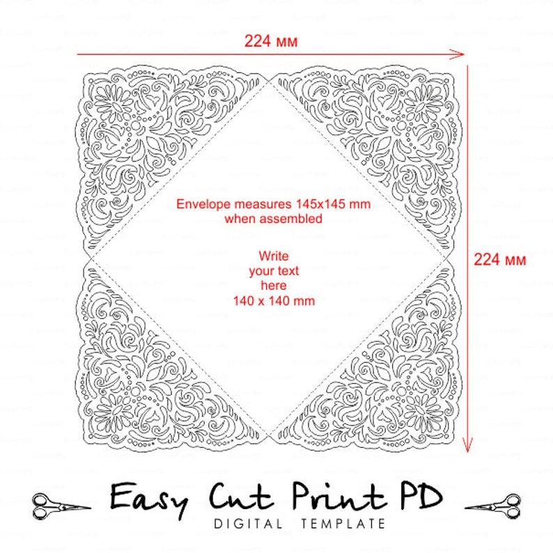 Wedding invitation Card Template Four-fold filigree ...
