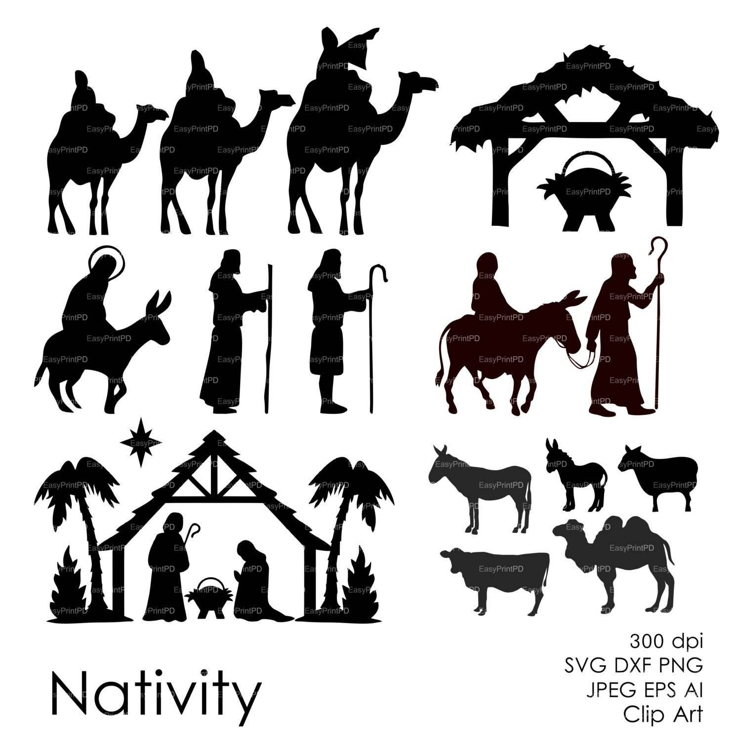 Handy image in nativity clipart free printable