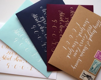 Envelope Samples, Wedding Calligraphy