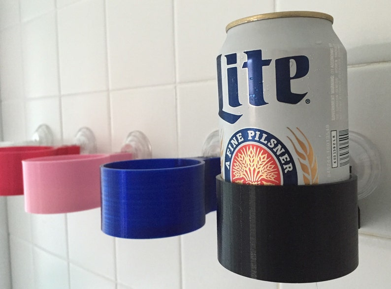 Shower beer beverage holder Pick you color. 3d printed by image 0
