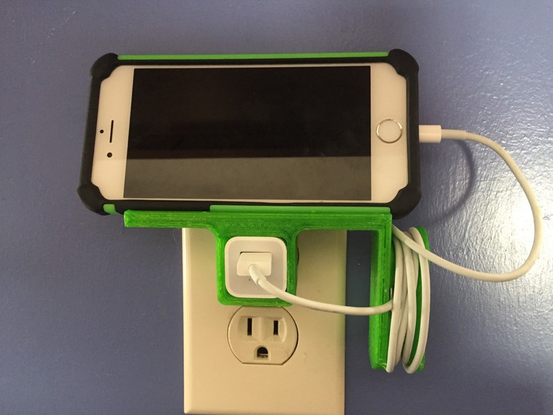 Iphone charging station horizontal  3D printed pick your image 0