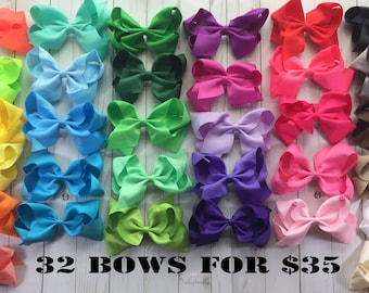 Big Hair Bows- 6 Inch Hair Bows- Large Hair Bows- Hair Bow for Girls-