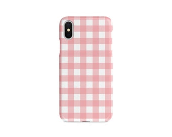 cb1034606a Gingham iPhone Case - Google Pixel Shell - Samsung Galaxy Cover - Plaid -  Fashion Case - Custom iPhone Case - Phone Case With Name - Pink