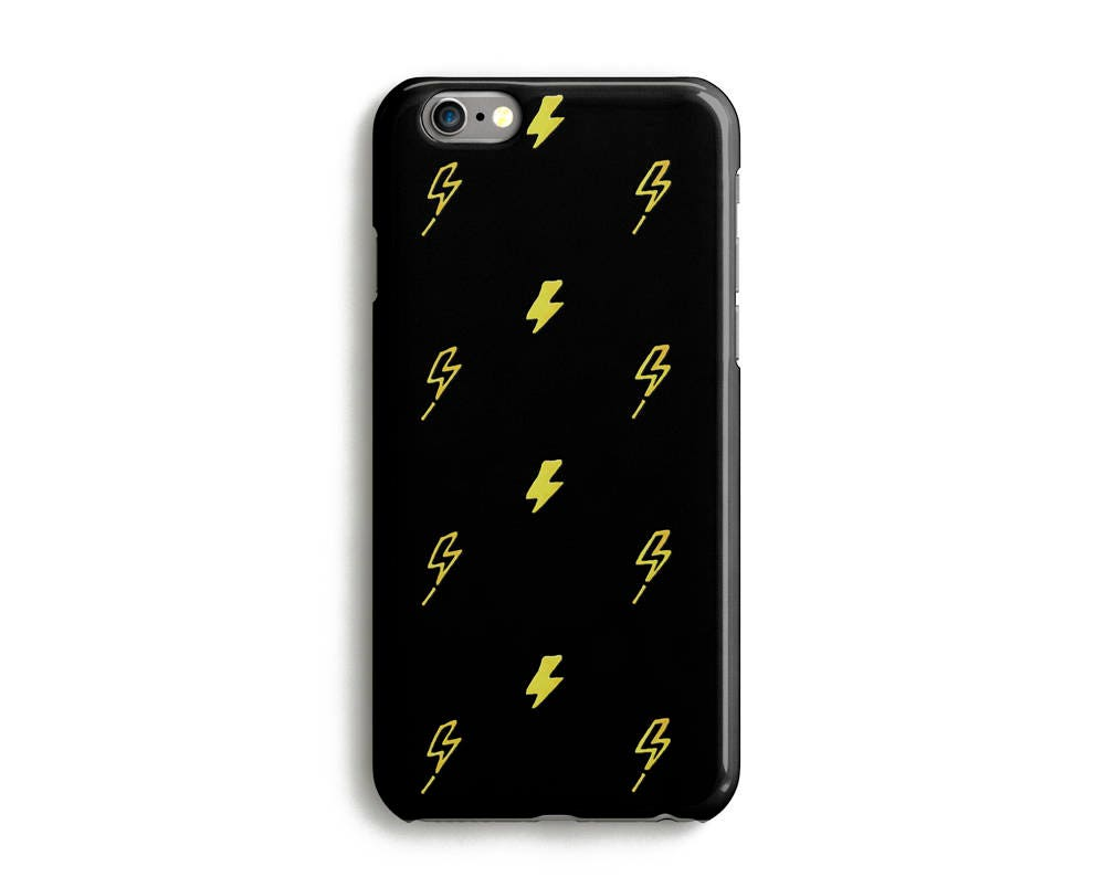 meet 5089c 8db81 Mini Thunder Phone Case, Xs Case, Xs Max, XR, iPhone 8, 7, 6s, SE, Google  Pixel Case, Samsung Galaxy Case, Lightning, Bolt, Strike, Black