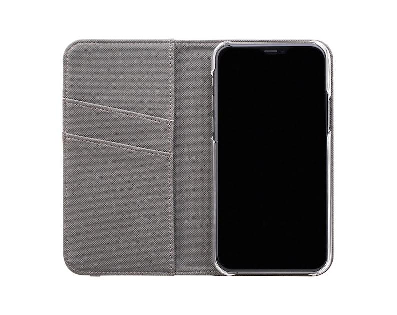 Faux Leather Blue Credit Card Leopard Spots Pattern Folio Classic Leopard Wallet iPhone Case Animal Print Samsung Galaxy Case
