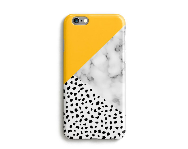 3ac99f9213fc4 Geometric iPhone Xs Case, iPhone Xs Max Case, iPhone XR Case, iPhone 8  Case, iPhone 7, iPhone 6, Dalmatian, Marble, Colour Block, Yellow