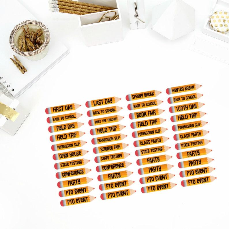 Filofax! Paper Plum Perfect for your Erin Condren Life Planner Back To School Set of Stickers calendar