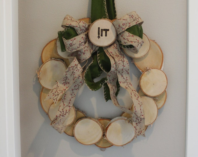 Wood Slice Wreath - Log Slice Wreath- Custom Log Slice Wreath