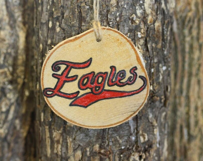 Philadelphia Eagles - Philadelphia Eagles Ornament - Handpainted Log Slice Ornament- Pick Your Color- Eagles