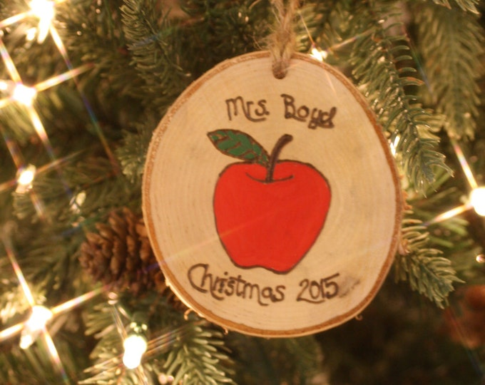 Teacher Christmas ornament - Personalized Christmas Ornament
