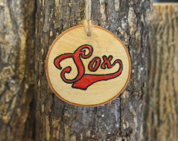 Chicago White Sox - Boston Red Sox - Handpainted Log Slice Ornament- Pick Your Color- Sox