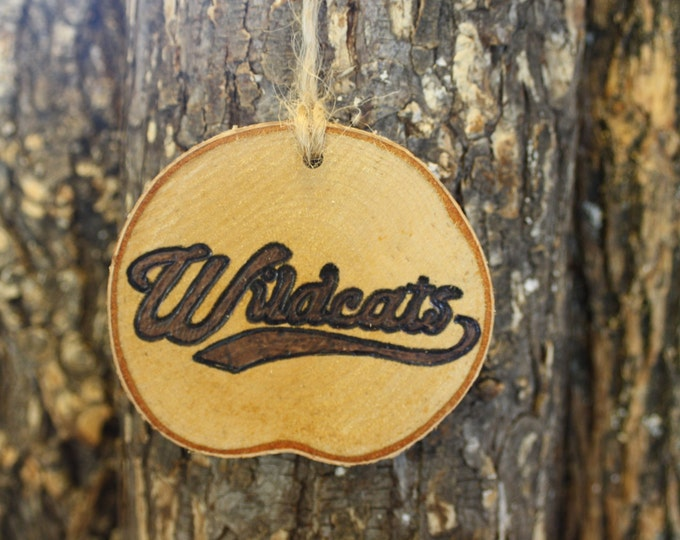 Arizona Wildcats Ornament - Handwoodburned Log Slice Ornament- Wildcats