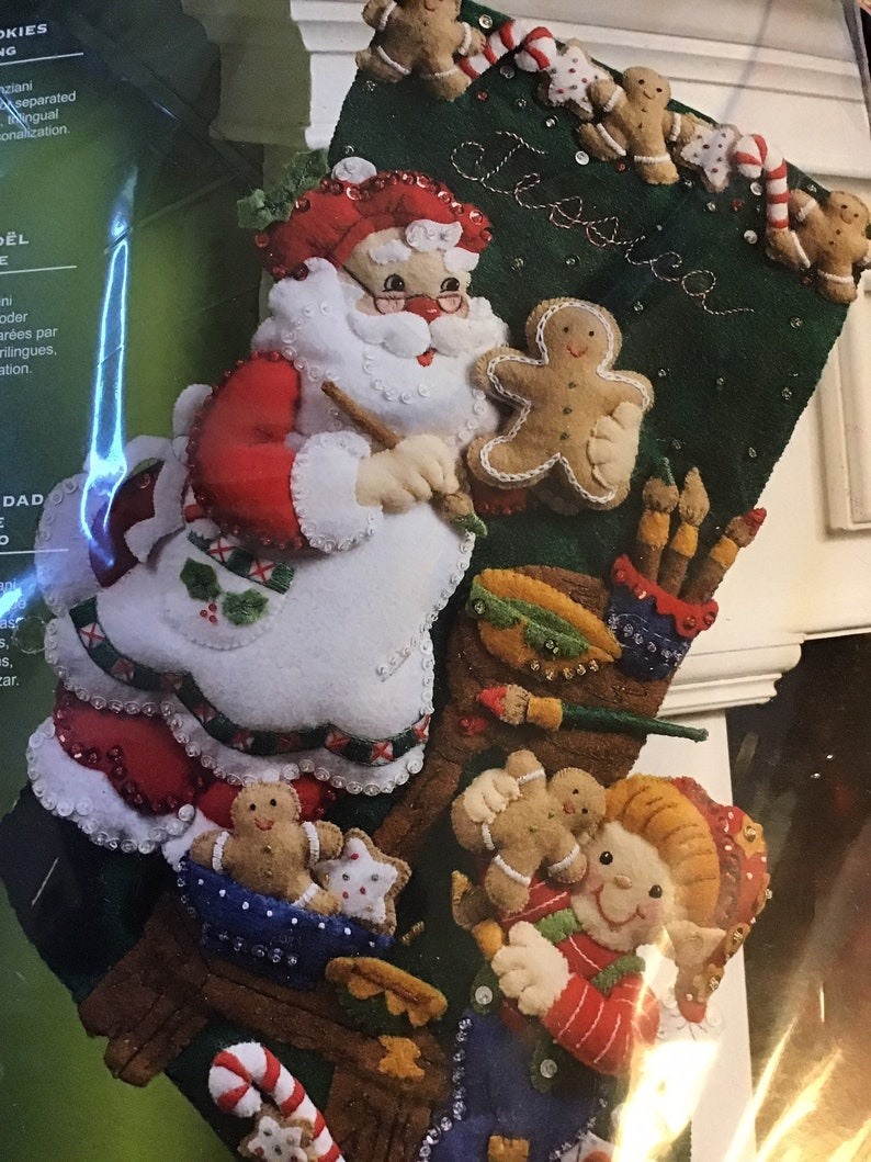 Christmas Cookies Stocking felt